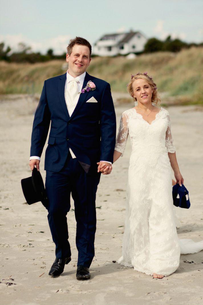 Norwegian couple on the beach