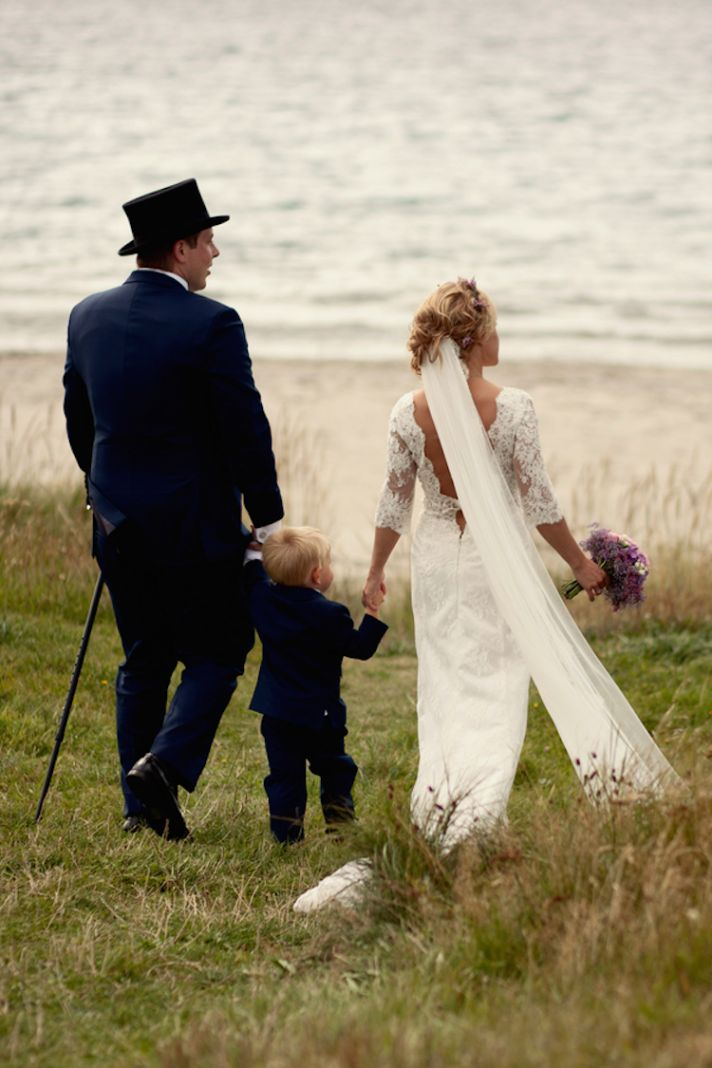 Real wedding on the coast of Norway