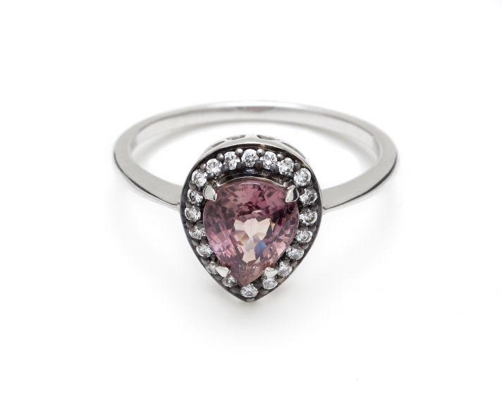 Unique pear cut engagement ring