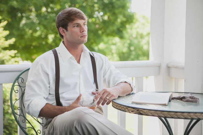 Contemplative groom
