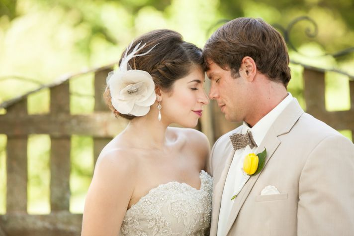 Intimate moment at a summer wedding