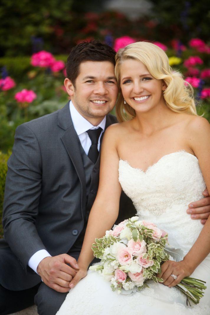 Adorable real wedding couple