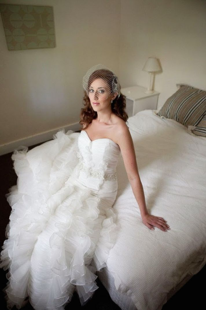Ruffled wedding gown from Bridal Bliss