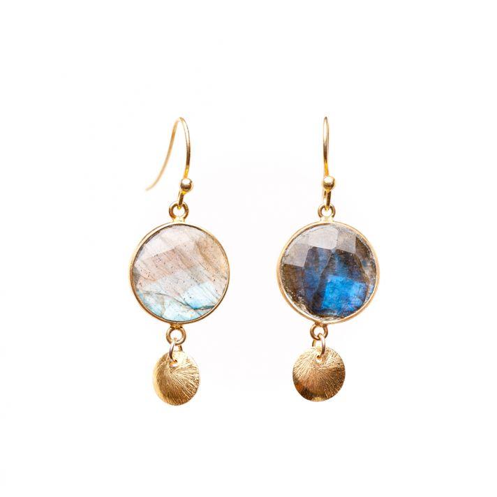 Opaque gemstone earrings