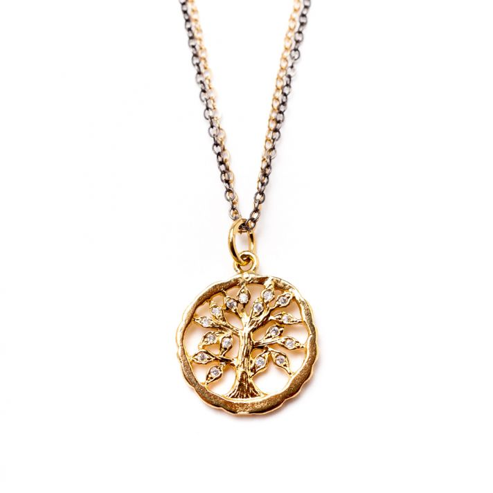 Tree decal necklace