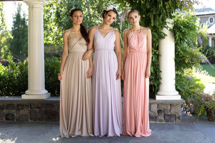 Floor length bridesmaids dresses