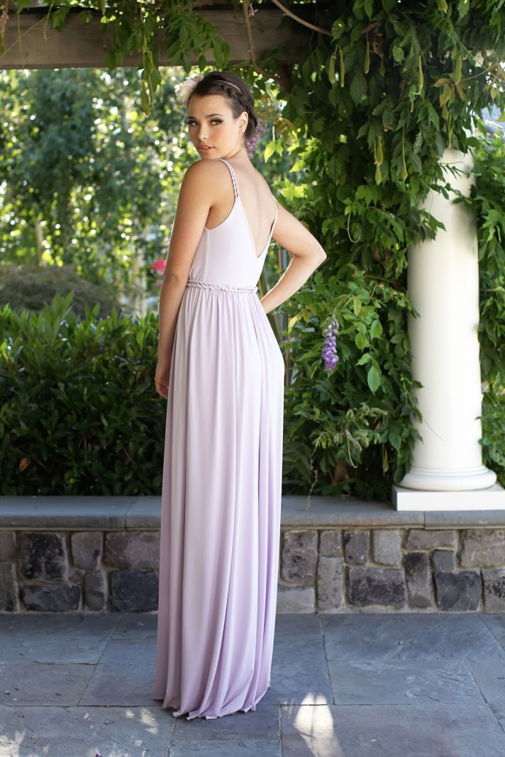 Light purple bridesmaids dress back