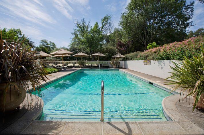 Pool at a California wedding venue