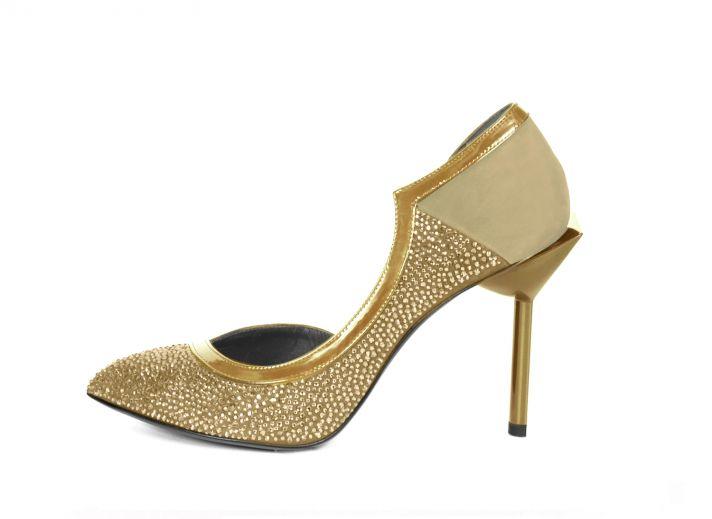 Les Nanettes in Gold by Maison des Talons