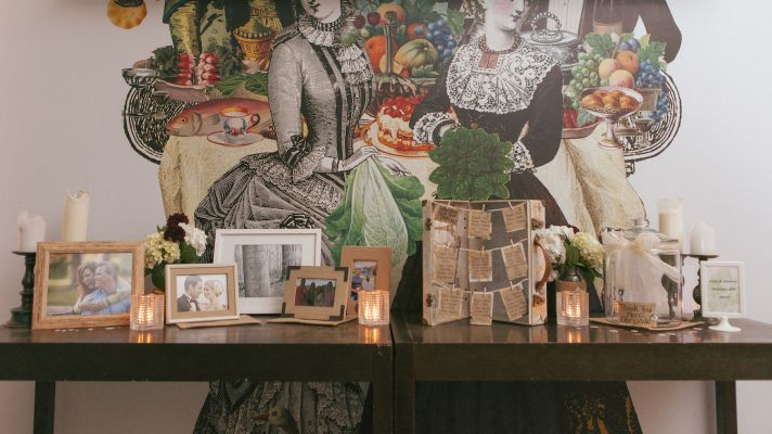 Escort card and display table decor inspiration