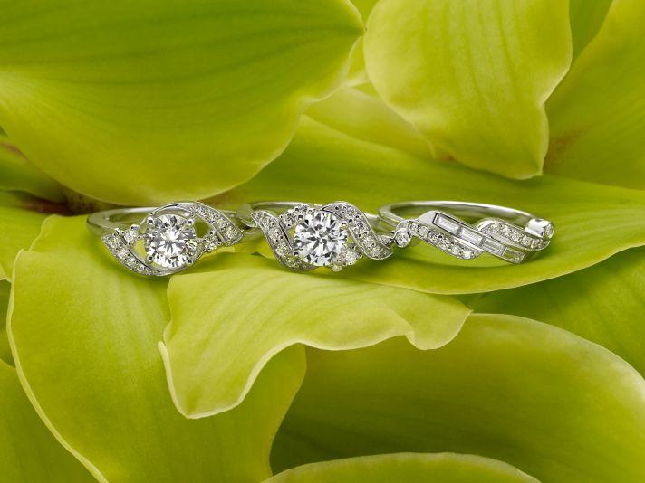 Retro Diamond Rings
