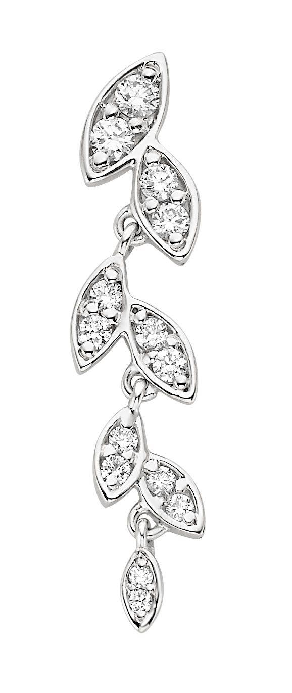 Leaf Shaped Diamond Earrings
