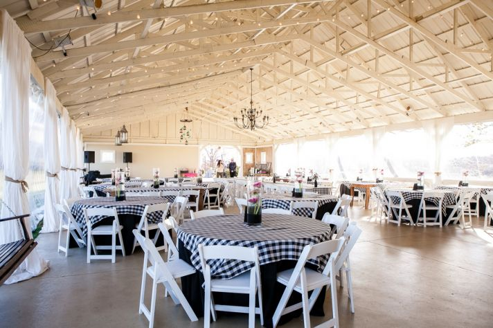 Sweet Indoor Outdoor Reception