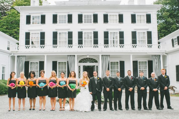 Bridal Party at an Estate