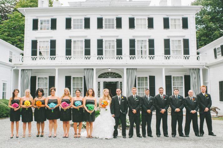 Bridal Party at an Estate