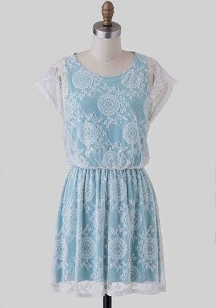 Lace and Light Blue Dress