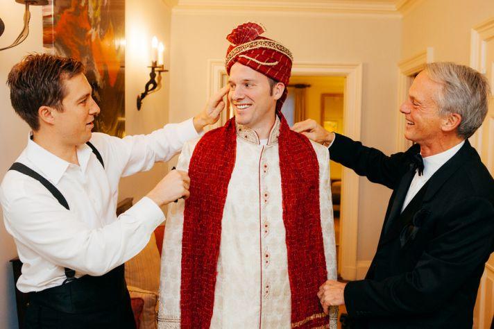 Groom in South Asian Wedding