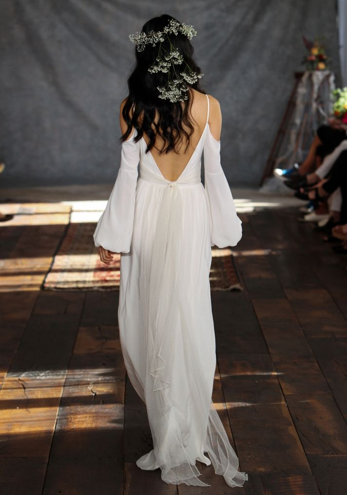 Bianca Wedding Dress Back from Claire Pettibone s Romantique Collection
