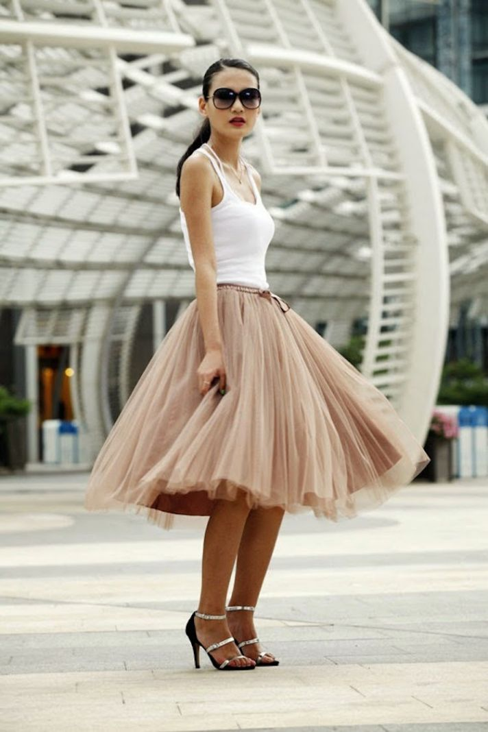 Ballerina Inspired Tulle Skirt