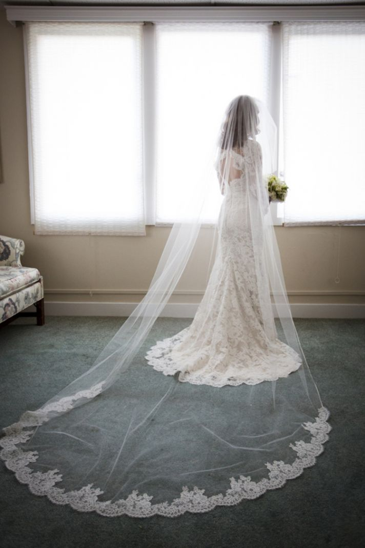 Incredible Lace Trimmed Veil