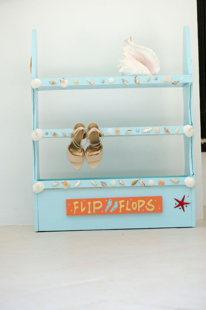 Flip Flop Container for Beach Wedding
