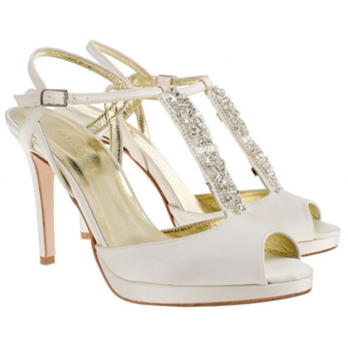 Audrey Bridal Sandal with Swarovski crystals