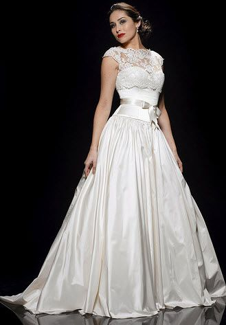 Stewart parvin wedding dress style before sunset onewed for Elizabeth taylor s wedding dresses