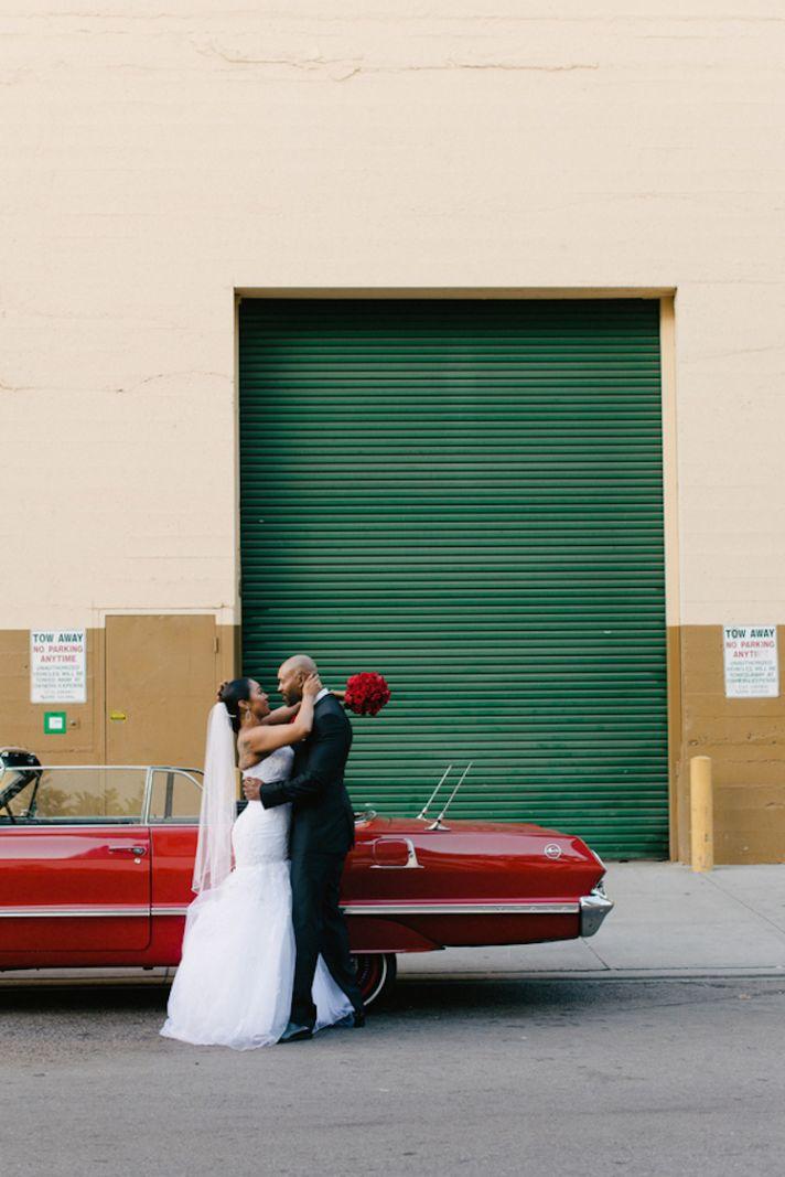 Newlyweds and their Getaway Car