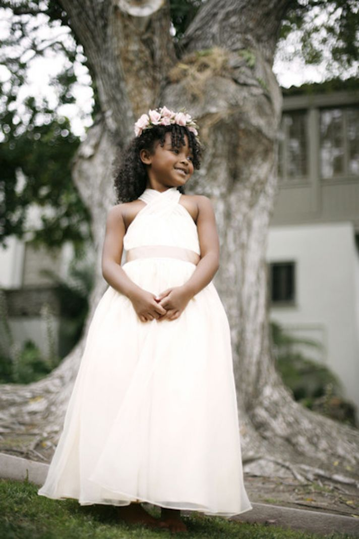 Flower Girl Dress with Criss Cross Bodice