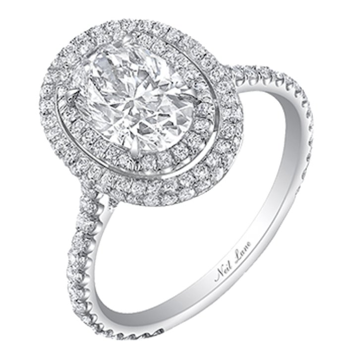 engagement white ct cut t frame bridal v w tw diamond ae ring collection gold lane emerald p neil emeraldcut