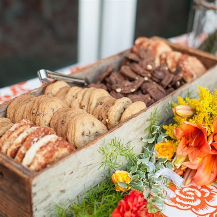 Homemade Cookies in a Rustic Wooden Box