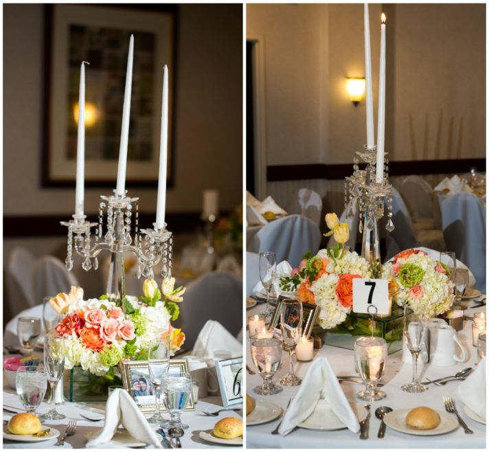 Crystal Adorned Centerpieces