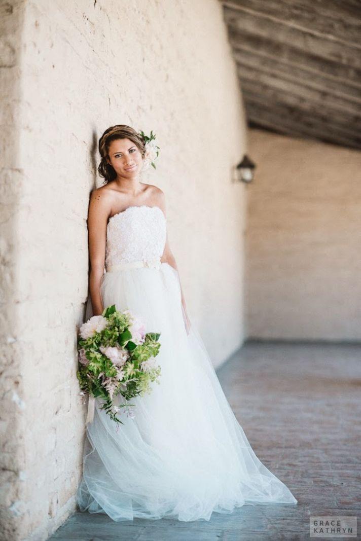 Dreamy Bohemian Wedding Dress with Full Skirt