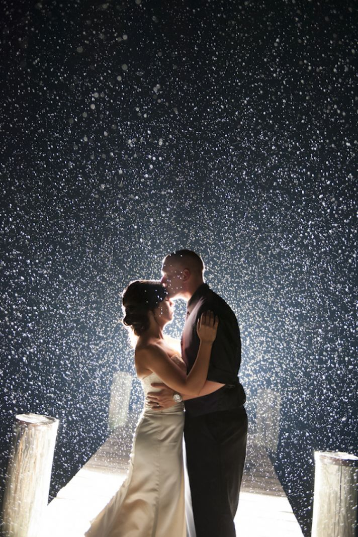 Romantic Rain Wedding Photography