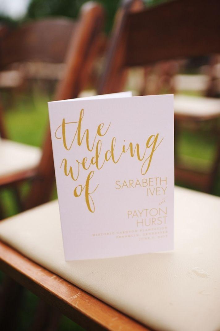 Pretty Wedding Program Stationery