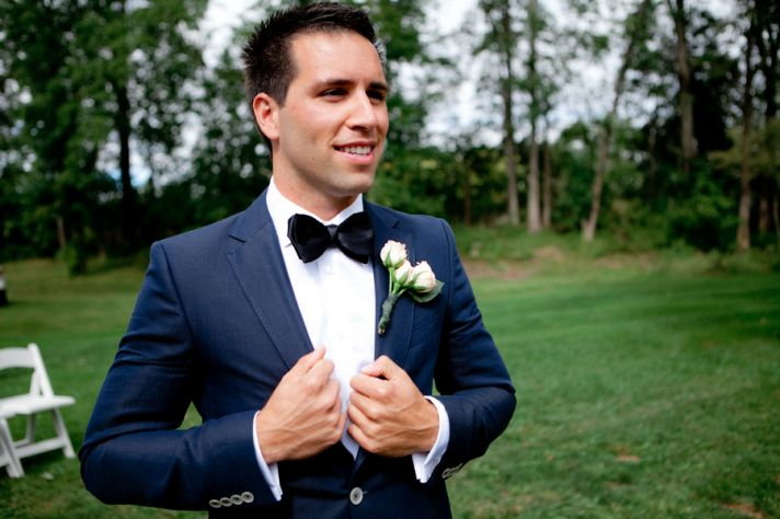 Stylish Groom with a Bow Tie