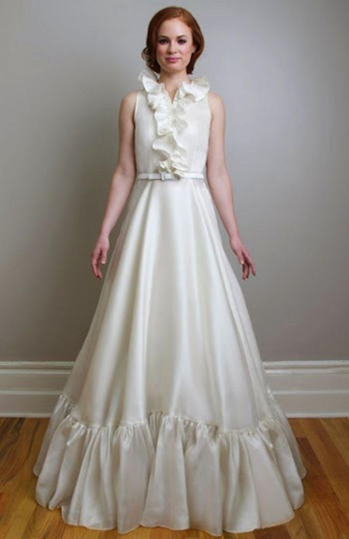 Wedding Dress Retro 45 Luxury Retro sleeveless wedding dress