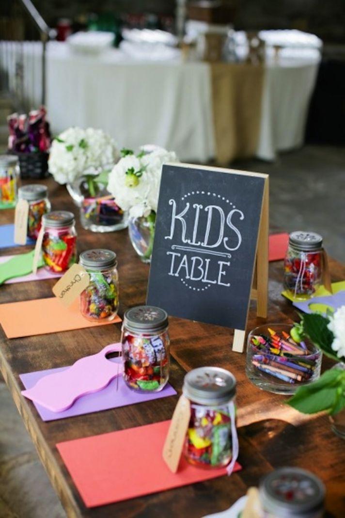Wedding Ideas Pinterest 62 Marvelous Cute kids table colorful