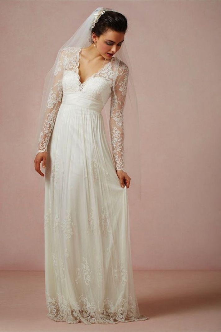 A Sheer Beautiful Lace Wedding Dress